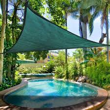12 ft triangle green sun shade sail canopy crosslinks