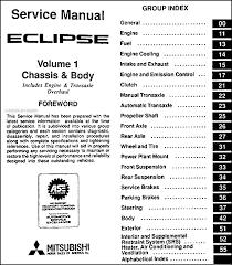 1996 mitsubishi eclipse repair shop manual set original