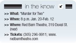 Red Barn Theatre Key West Fl Murder For Two U0027 Brings Whodunit Musical Comedy To The Red Barn