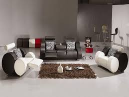 Black Living Room Set Casual Blue  Piece Room Group Wall St - Cool living room chairs