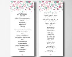 program template for wedding printable wedding ceremony program template sided