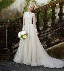custom made sheer beach country wedding dresses spring modest