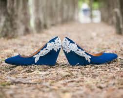 Wedding Shoes Size 9 Wedding Shoes Blue Wedges Blue Wedding Heels Low Blue Wedge