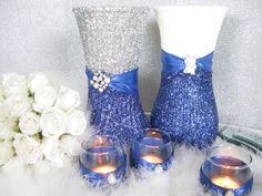 Silver Wedding Centerpieces by Blue And Silver Wedding Ideas Wedding Decorations Silver