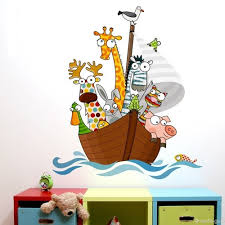 funny animal sailors wall sticker decal for children funny animal sailors wall sticker