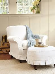 white wing chair slipcover furniture comfortable and stylish slipcovered chairs for home