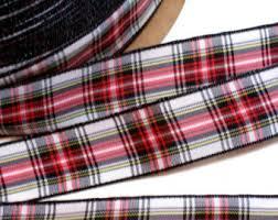 and black plaid ribbon wallace plaid ribbon 2 1 8 x 1 yard black and yellow