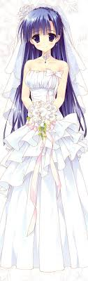 wedding dress anime anime girl white wedding dress anime images