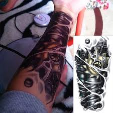 com buy robot machine arm temporary body art flash tattoo
