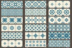 set 2 of 18 classic seamless templates of moroccan tiles