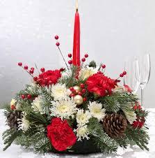 Christmas Floral Table Decorations by Christmas Flowers Table Centerpiece Arrangements