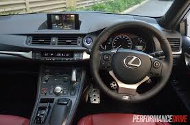 lexus nx f sport interior lexus ct 200h f sport review video performancedrive