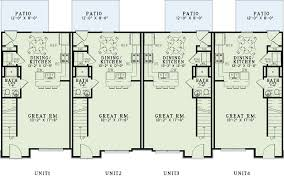 multifamily house plans main floor plan 4 plex multifamily house plan ndg 1357 quarters