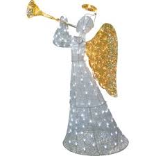 lighted christmas yard angels fanciful lighted christmas angel yard decor tree topper angels