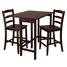 Drop Leaf Bistro Table Winsome Lynnwood 3 Pc Drop Leaf High Table With 2 Counter Ladder
