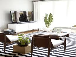 black and white striped area rug for living room plus mid century