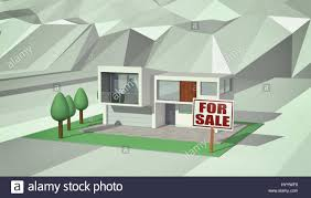 Modernhouse by Modern House With A Garden And A Signboard With Text For Sale