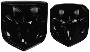 Dodge Truck Ram Head Hood Ornament - amazon com black dodge ram 1500 2500 3500 front u0026 rear ram head