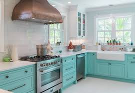 fixer blue kitchen cabinets custom kitchen with turquoise cabinets home bunch interior