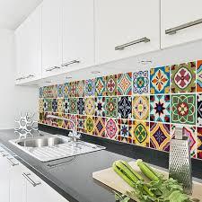 Tile Decals For Kitchen Backsplash Talavera Tile Decals Tile Stickers Set Talavera