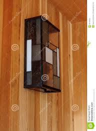 Front Door Light Fixtures by Detail Of Glass Light Fixture On Modern Home Front Porch Royalty