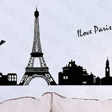 decorating fine wall decals to beautify walls of your home fabulous bonjour paris hemu wall decals