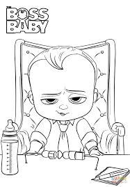 boss baby coloring page free printable coloring pages