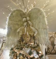 christmas tree angel angel wings theme christmas tree angel wing tree topper