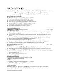 fascinating inventory control specialist resume objective on
