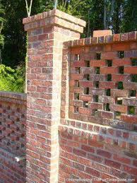 decorative brick fence brick fence with concrete blocks and
