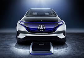 mercedes caterham mercedes eq 2018 s electric crossover steps out by car