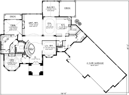 2 story open floor house plans european house plan 4 bedrooms 4 bath 4540 sq ft plan 7 1128