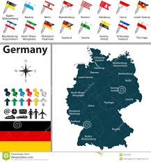 Map Og Germany by Map Of Germany Stock Vector Image 49054588