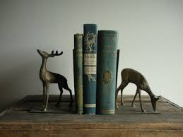 unique bookends for sale vintage metal deer book ends by natureandnostalgia on etsy 34 00