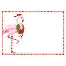 Blank Invitations Christmas Flamingo Invitations 8 Blank Invitations U0026 8 Envelopes