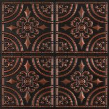 Tin Ceiling Panels by Wrougth Iron Faux Tin Ceiling Tile Glue Up 24