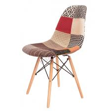 set of 2 replica eames dsw eiffel chair multi color fabric