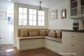 kitchen corner bench seating with storage also table and