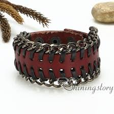 hand made bracelet images Genuine leather wristbands handmade leather bracelets with buckle jpg