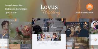 wedding planner website lovus wedding and wedding planner website template by designesia