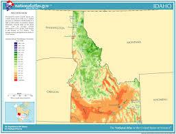 map of idaho precipitation map for idaho classbrain s state reports
