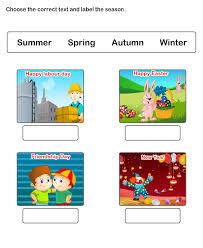 free printable worksheets for kids season worksheets
