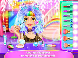 rainbow hair salon dress up android apps on google play
