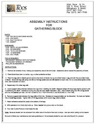 boos block butcher block table assembly instructions gathering blocks