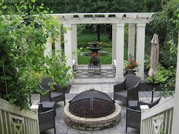 Courtyard Garden Ideas A Formal Courtyard With Sunny Patio With Firepit Shady Patio