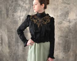 victorian blouse etsy