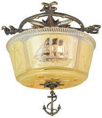 Ship Light Fixture Vintage Hardware Lighting Deco Ceiling Bowl Lights