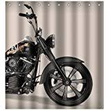 Harley Shower Curtain Amazon Com Harley Davidson Design Waterproof Bathroom Shower