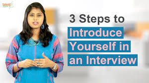 introduce yourself sample essay 3 steps to introduce yourself in an interview interview tips 3 steps to introduce yourself in an interview interview tips talentsprint youtube