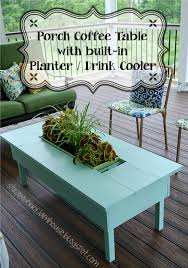 coffee table with cooler strawberry jam house porch coffee table with built in cooler